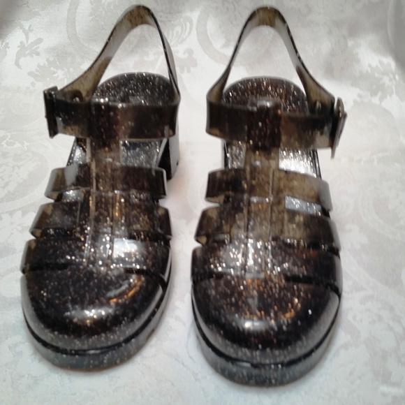 c108deb823f5 Nature Breeze Shoes | Smoke Glitter Jellies Mary Janes 8 | Poshmark